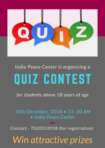 Quiz Competition on Human Rights @ India Peace Centre