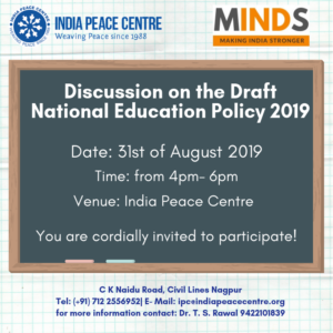 Discussion on the Draft National Education Policy @ India Peace Centre