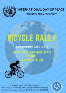 Bicycle Rally in Celebration of International Peace Day @ India Peace Centre