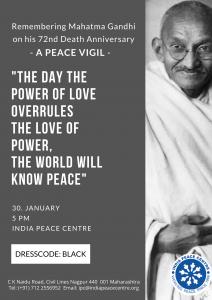 Remembering Mahatma Gandhiji: A peace vigil